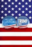 Trumpf Clintons V US-Wahl Stockbilder