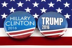 Trumpf Clintons V US-Wahl Stockfotografie