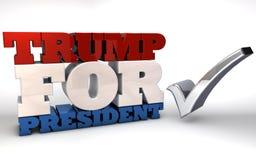 Trumpf für Präsidenten Lizenzfreies Stockfoto