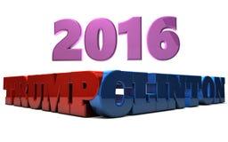 Trumpf gegen Clinton 2016 Stockbilder