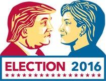 Trumpf gegen Clinton Election 2016 Lizenzfreie Stockfotografie