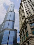 Trumpf-Kontrollturm in Chicago, Illinois Stockbilder