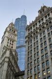 Trumpf-Turm bei Sonnenuntergang, Chicago, USA Stockfoto