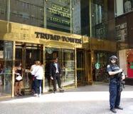 Trumpf-Turm-Sicherheit, New York City, NYC, NY, USA Lizenzfreies Stockfoto