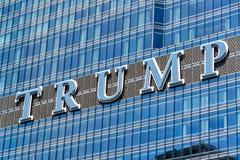 Trumpf-Turm unterzeichnen herein Chicago Lizenzfreies Stockfoto