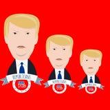 Trumpfkandidat auf einem Rot Lizenzfreies Stockbild