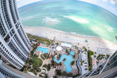 Trumpfkontrolltürme in Miami   Stockbilder