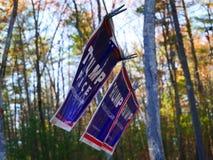 Trumpfzeichen - der Wind der Änderung Stockfoto