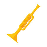 Trumphet musical instrument icon Royalty Free Stock Photo