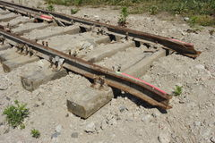 Truncated Railway Track Royalty Free Stock Photos