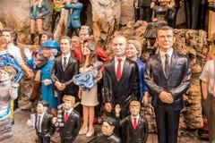 Trunfo, Putin e o outro líder famoso imagens de stock