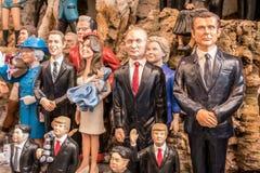 Trunfo, Putin e o outro líder famoso imagens de stock royalty free
