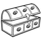 Trunk. Art illustration in black and white: an old trunk Royalty Free Stock Photography