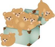 Trunk Baby Teddy Bears Royalty Free Stock Photos