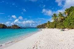 Trunk Bay on St John in the US Virgin Islands stock image