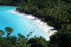 Trunk bay beach. The famous trunk bay beach at st. john island in american virgin islands Stock Photography
