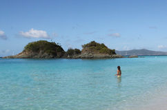 Trunk Bay Beach, St. John, USVI Stock Photography