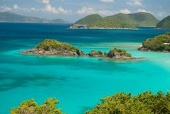 Trunk Bay - St John. View of Trunk Bay on St John , United States Virgin Islands Royalty Free Stock Photo