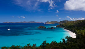 Trunk Bay on St John royalty free stock photography