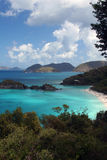 Trunk Bay, St. John. Trunk Bay from the nearby scenic overlook: beautiful, but too populated to enjoy stock photo