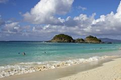 Trunk bay in St John,  Caribbean Stock Photo