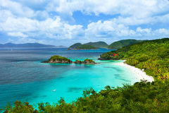 Trunk bay on St John island, US Virgin Islands Stock Photo