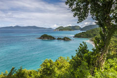 Trunk Bay, St. John, U.S. Virgin Islands royalty free stock images