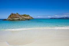 Trunk bay, usvi. Empty beach at trunk bay, us virgin islands Stock Photos
