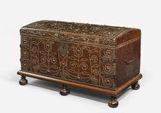 Trunk chest old antique Stock Image