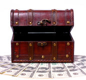 Trunk with dollar Stock Photography