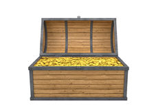 Trunk full of gold Stock Images