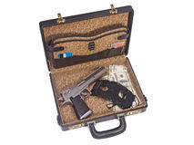 Trunk with guns Royalty Free Stock Photos