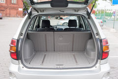 Trunk Luggage Compartment. Close up view of a luggage compartment of a hatchback car Royalty Free Stock Photography