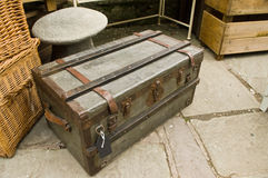 Trunk. Metal trunk or travelling case Royalty Free Stock Photos