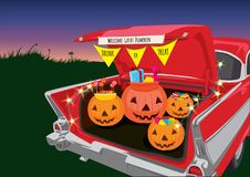 Free Trunk Or Treat Halloween Night Royalty Free Stock Images - 160529679