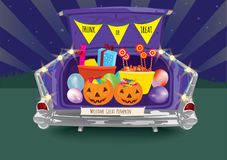 Free Trunk Or Treat Halloween Night Royalty Free Stock Photos - 161321968