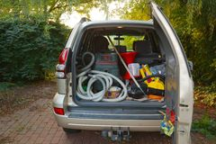 Trunk with stuff Royalty Free Stock Photo