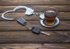 Trunkenheitsfahren lizenzfreie stockbilder