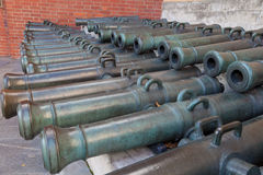 Trunks of old cannons Stock Photos