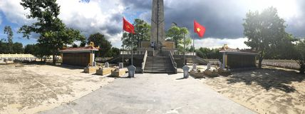 Truong Son martyr`s cemetery in Hai Phu, Hai Boi, Quang Tri. The burial place of martyrs was sacrificed during the war against the. US. Many martyrs do not royalty free stock images
