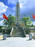 Truong Son martyr`s cemetery in Hai Phu, Hai Boi, Quang Tri. The burial place of martyrs was sacrificed during the war against the. US. Many martyrs do not royalty free stock photos