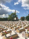 Truong Son martyr`s cemetery in Hai Phu, Hai Boi, Quang Tri. The burial place of martyrs was sacrificed during the war against the. US. Many martyrs do not royalty free stock photo