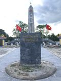 Truong Son martyr`s cemetery in Hai Phu, Hai Boi, Quang Tri. The burial place of martyrs was sacrificed during the war against the. US. Many martyrs do not stock photos