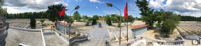 Truong Son martyr`s cemetery in Hai Phu, Hai Boi, Quang Tri. The burial place of martyrs was sacrificed during the war against the. US. Many martyrs do not royalty free stock image