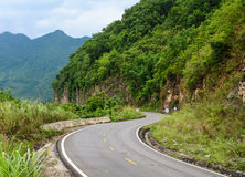 Truong Son mountain road in Hoa Binh, Vietnam Royalty Free Stock Images