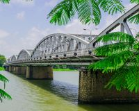 The Truong Tien bridge in Hue in Vietnam Royalty Free Stock Images