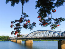 Truong Tien-brug in Tint, Vietnam Royalty-vrije Stock Foto