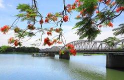 Truong Tien most, odcienia miasto, Wietnam Zdjęcie Stock