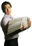 Truoubled with files Royalty Free Stock Photo