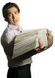 Truoubled mit Dateien Lizenzfreies Stockfoto